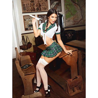 Baci - Boarding School Schoolgirl Costume Set One Size - PleasureHobby