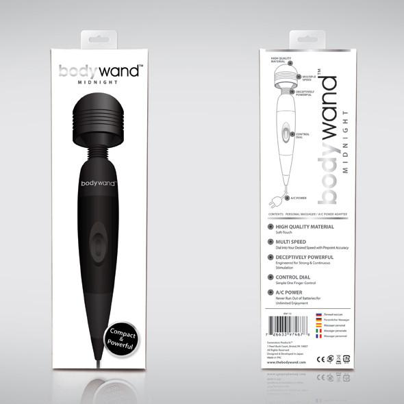 Bodywand - Midnight Plug-in Wand Massager (Black) - PleasureHobby