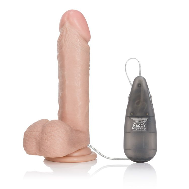 "California Exotics - Emperor Flesh Vibrating Dildo 6"" Realistic Dildo with suction cup (Vibration) Non Rechargeable Durio Asia"