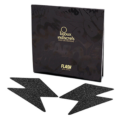Bijoux Indiscrets - Flash Bolt Pasties (Black)