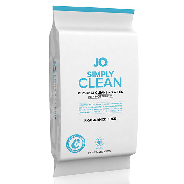 System JO - Simply Clean Personal Cleansing Wipes 30 Pack (Fragrance-Free)