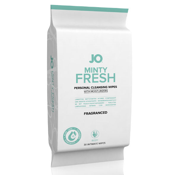 System JO - Minty Fresh Personal Cleansing Wipes 30-Pack (Fragranced)