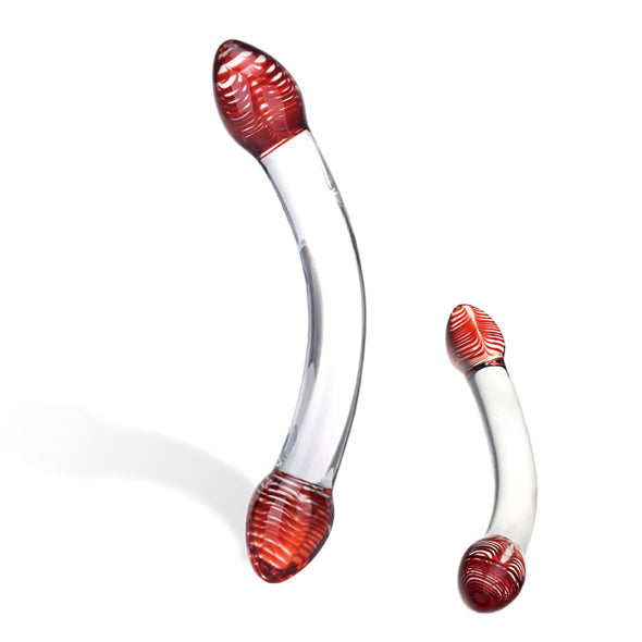 Glas - Red Head Double Glass Dildo