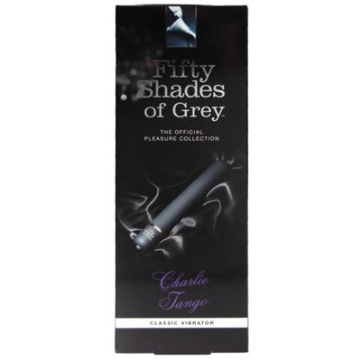 Fifty Shades Of Grey - New Charlie Tango Classic Vibrator (Black) Non Realistic Dildo w/o suction cup (Vibration) Non Rechargeable Durio Asia