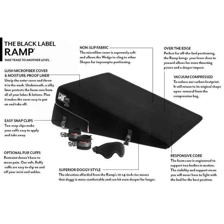 Liberator - Black Label Ramp Sex Furniture (Black)