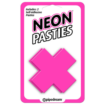 Pipedream - Neon X Pasties (Pink)