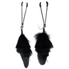 Bijoux de Nip - Feather With Tweezer Nipple Clamps (Black) Nipple Clamps (Non Vibration) Durio Asia