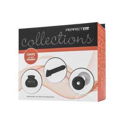 Perfect Fit - Collections Luxury Featuring SilaSkin Set (Black) - PleasureHobby