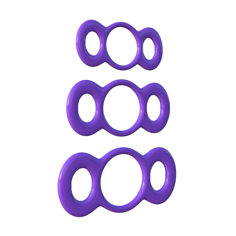 Pipedream - Fantasy C-Ringz 3 Ring Quick Release Trainer Set (Purple) - PleasureHobby