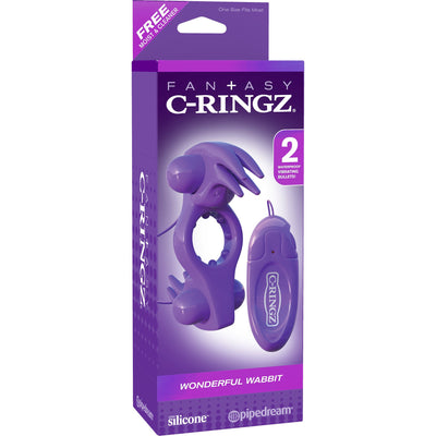Pipedream - Fantasy C-Ringz Wonderful Wabbit Remote Control Cock Ring - PleasureHobby