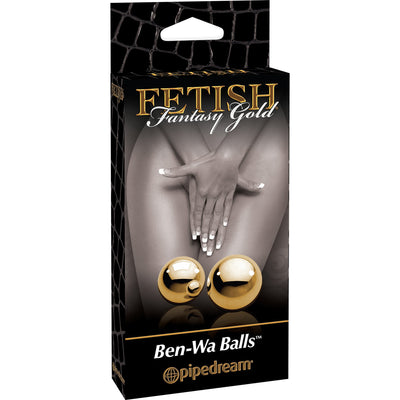 Pipedream - Fetish Fantasy Gold Ben-Wa Balls - PleasureHobby