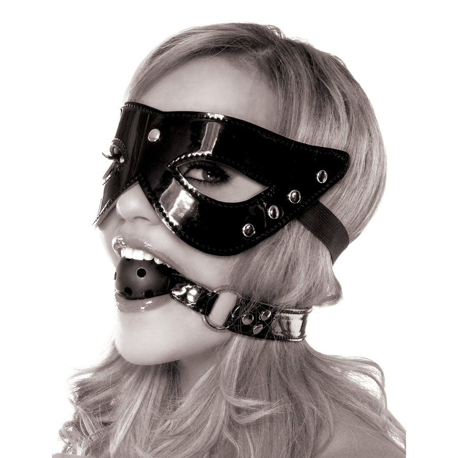 Pipedream - Fetish Fantasy Limited Edition Masquerade Mask & Ball Gag - PleasureHobby