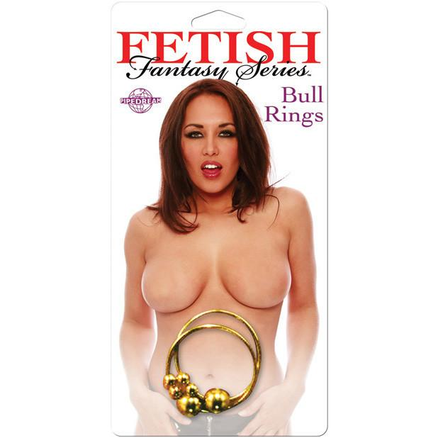 Pipedream - Fetish Fantasy Series Nipple Bull Rings (Gold) - PleasureHobby