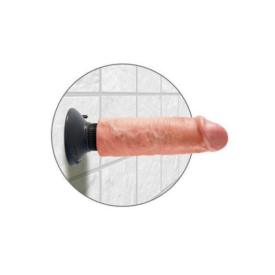 "Pipedream - King Cock 6"" Vibrating Cock (Beige) - PleasureHobby"
