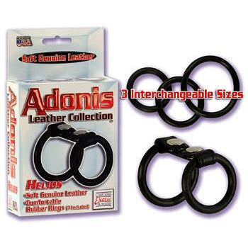 California Exotics - Adonis Leather Collection Helios Cock Ring Leather Cock Ring (Non Vibration) Durio Asia