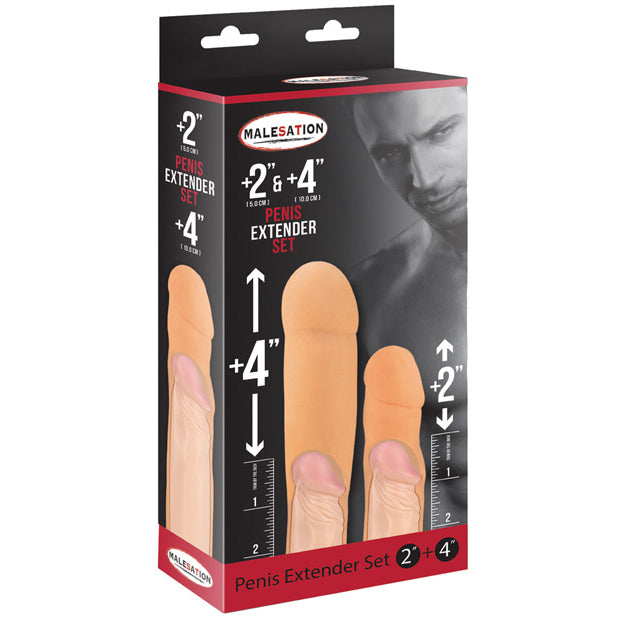"Malesation - Penis Extenders 2"" and 4"""