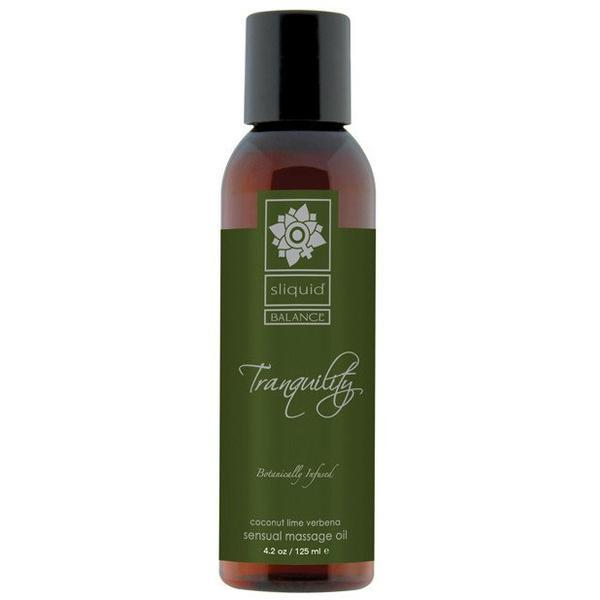 Sliquid - Balance Tranquility Massage Oil 4.2 oz (Coconut Lime Verbena)