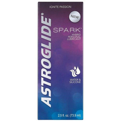 Astroglide - Spark Hybrid Personal Lubricant 2.5oz (Blue) Lube (Silicone Based) - CherryAffairs Singapore