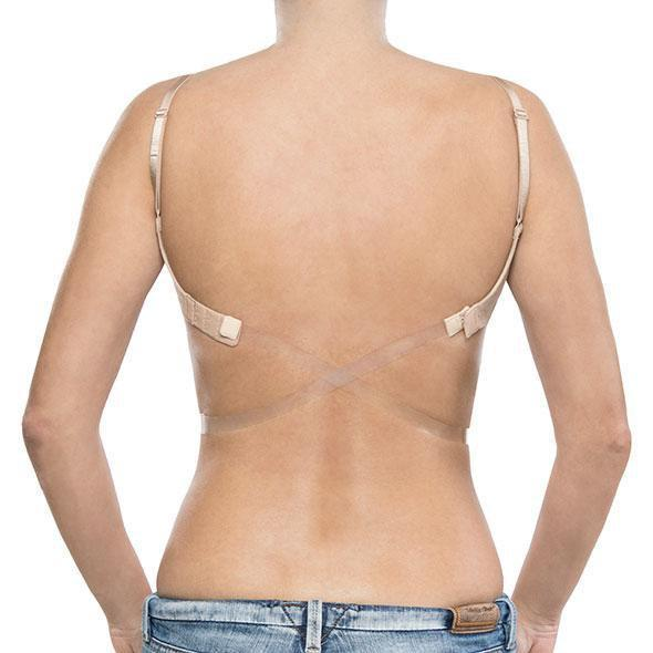 Bye Bra - Concealing and Comfortable Transparent Low Back Strap (Clear)