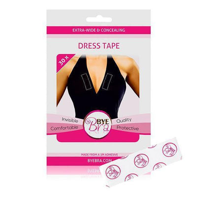 Bye Bra - Extra wide and Concealing Dress Tape 30Pcs (Clear) Costumes