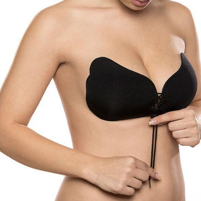 Bye Bra - Lace and Push Up Lace-It Bra Cup B (Black) Costumes