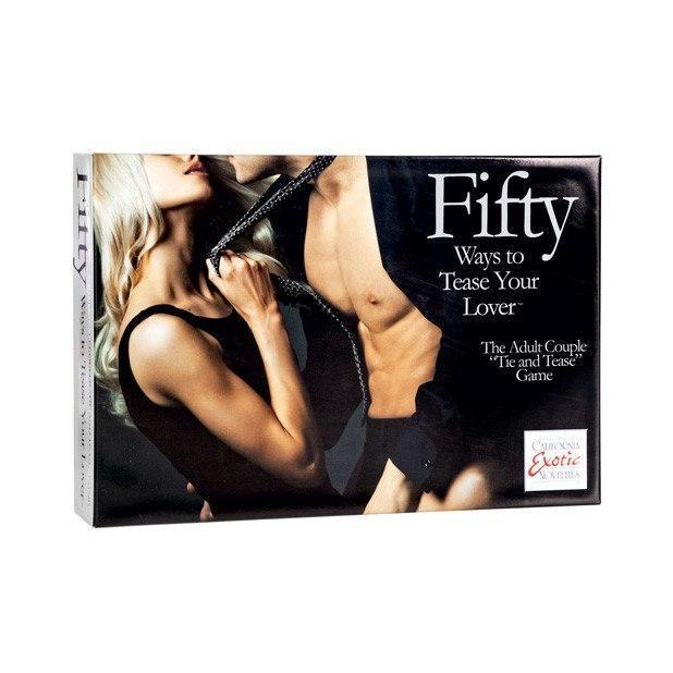 California Exotics - Fifty Ways to Tease Your Lover Card Game (Black)