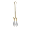 California Exotics - Intimate Play Crystal Clitoral Jewelry Clamp (Gold) Clitoral Clamps Durio Asia