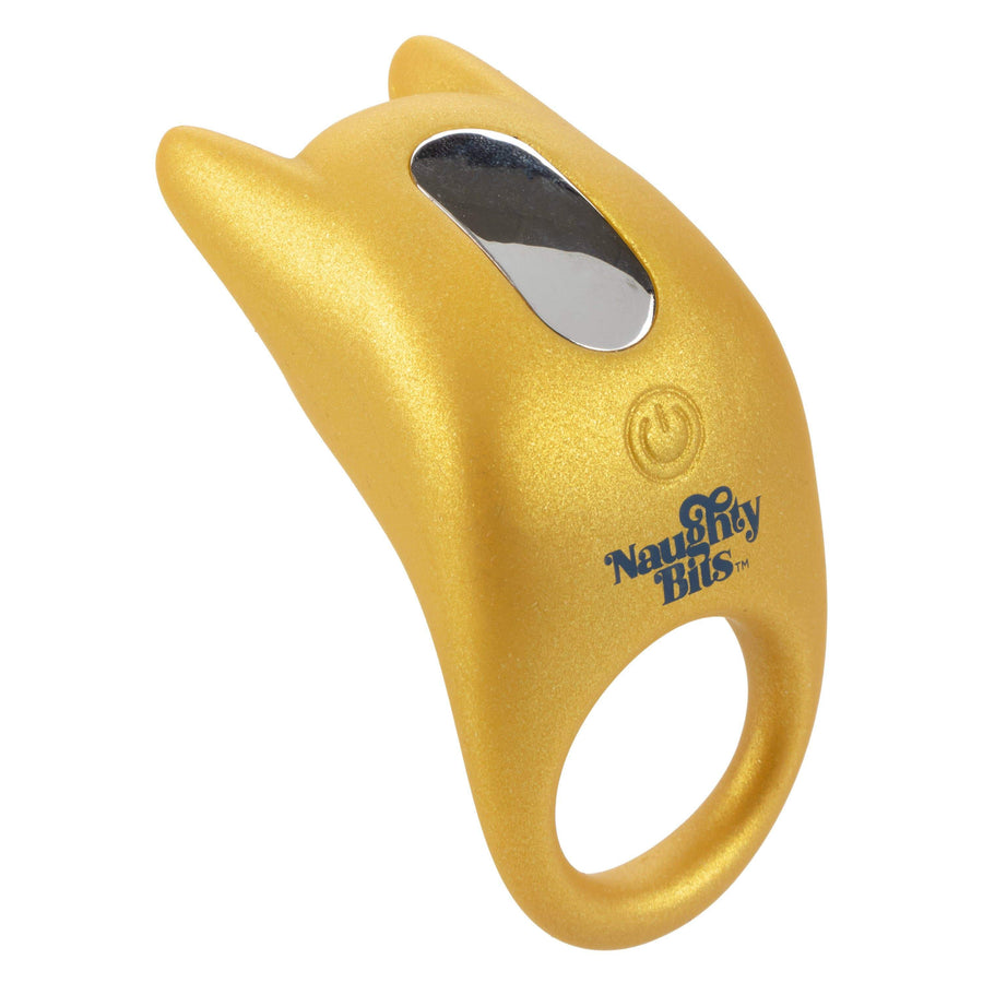 California Exotics - Naughty Bits Horny AF Vibrating Cock Ring (Yellow)