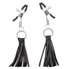 California Exotics - Nipple Play Playful Tassels Nipple Clamps (Black) Nipple Clamps (Non Vibration) Durio Asia