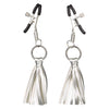 California Exotics - Nipple Play Playful Tassels Nipple Clamps (Silver) Nipple Clamps (Non Vibration) Durio Asia
