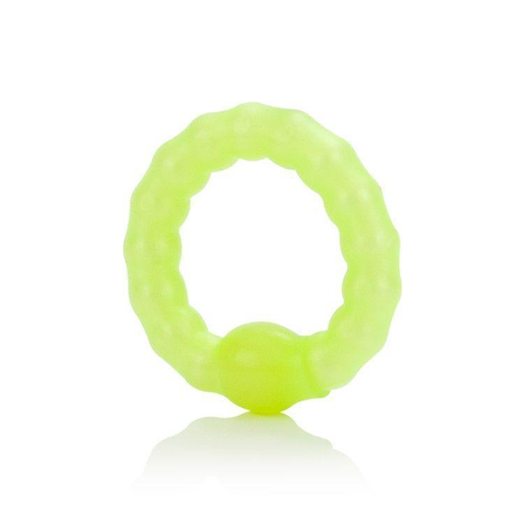 California Exotics - Pearl Beaded Prolong Ring (Green) Rubber Cock Ring (Non Vibration) - CherryAffairs Singapore