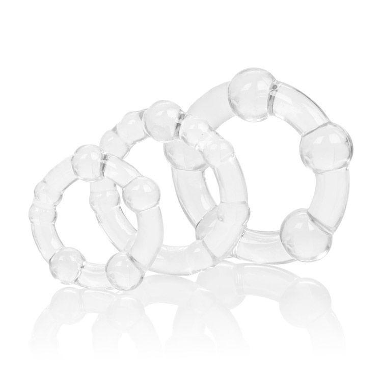 California Exotics - Silicone Island Rings (Clear) Rubber Cock Ring (Non Vibration) - CherryAffairs Singapore