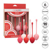 California Exotics - Strawberry Silicone Kegel Balls Training Set (Pink) Kegel Balls (Non Vibration) 716770092427 CherryAffairs