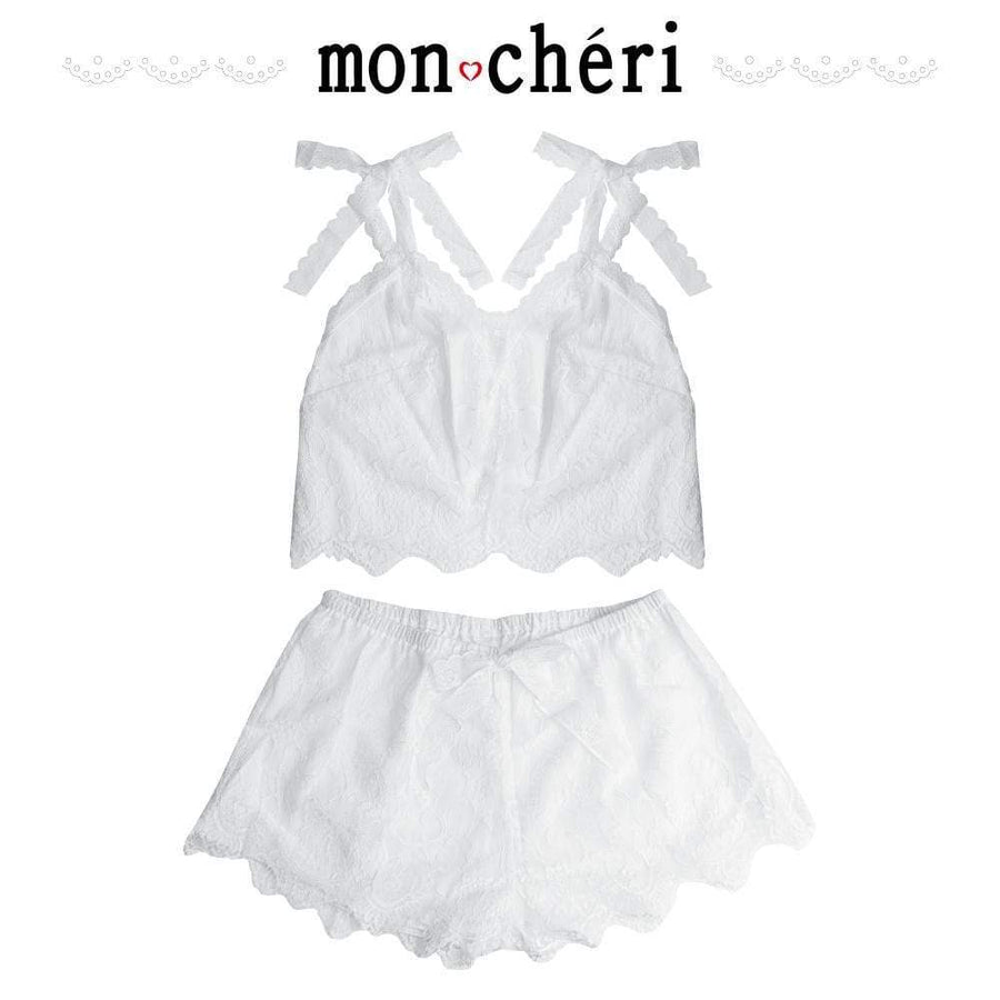 Enjoy Toys - Mon Cheri Room Wear Mor00025 2 Pc Chemise (White) Chemises Durio Asia