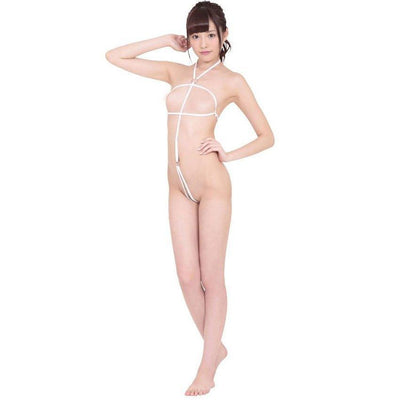 Erox - Borderlined Body Lingerie (White) Costumes - CherryAffairs Singapore
