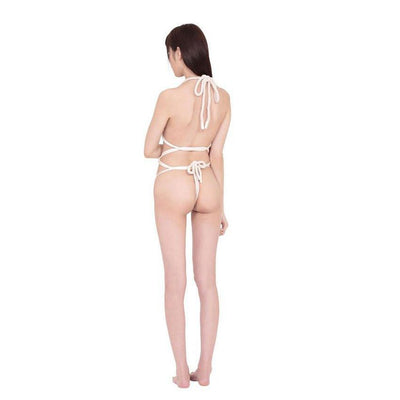 Erox - Kikko Woman Rope Teddy (White) Costumes - CherryAffairs Singapore