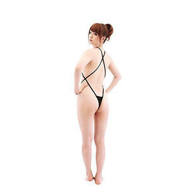 Erox - Lady's Cross Teddy (Black) Costumes - CherryAffairs Singapore