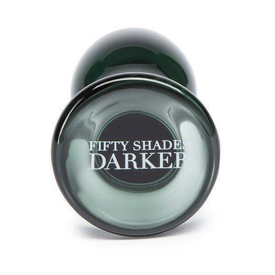 Fifty Shades Darker - Something Darker Glass Butt Plug Glass Anal Plug (Non Vibration) - CherryAffairs Singapore