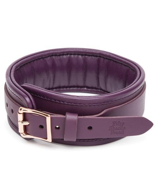 Fifty Shades Freed - Cherished Collection Leather Collar & Lead (Purple) Leash Durio Asia