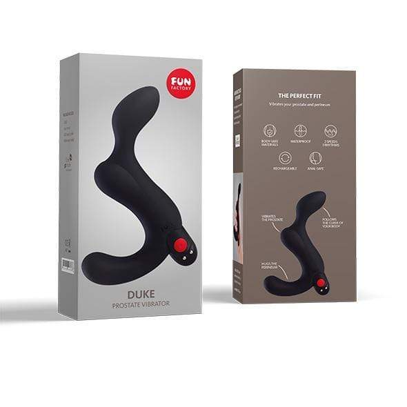 Fun Factory - Duke Prostate Massager  (Black) Prostate Massager (Vibration) Rechargeable Durio Asia