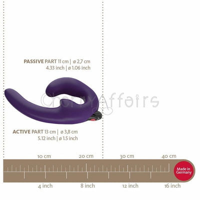 Fun Factory - ShareVibe Couple's Strap-On Vibrator (Dark Violet) Non RC Strap On with Dildo for Reverse Insertion (Vibration) Rechargeable - CherryAffairs Singapore