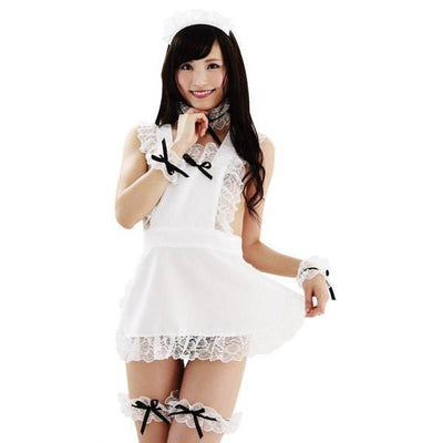 Garaku - Apron Without Makeup (White) Costumes - CherryAffairs Singapore