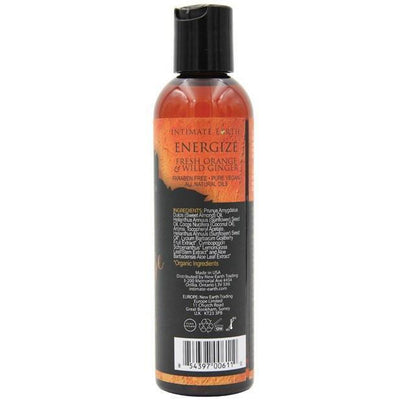 Intimate Earth - Energize Massage Oil 240 ml Orange & Ginger (Orange) Massage Oil - CherryAffairs Singapore