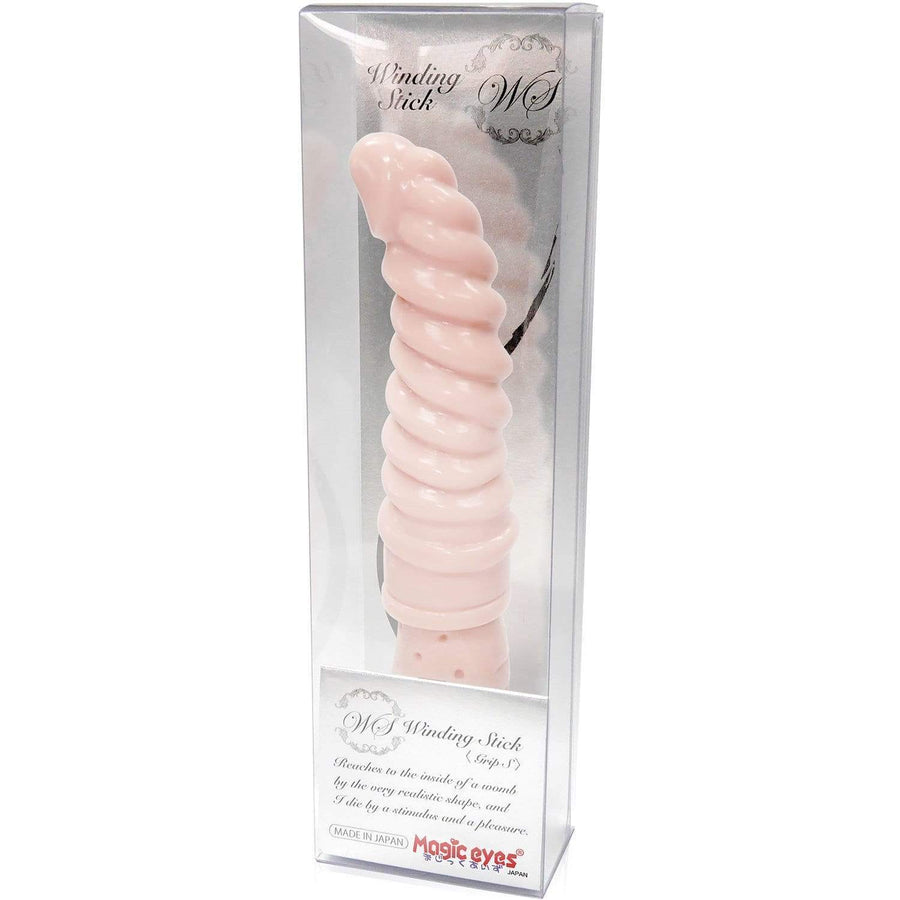Magic Eyes - Winding Stick Grip S Dildo (Beige) Non Realistic Dildo w/o suction cup (Non Vibration) 4571324241487 CherryAffairs