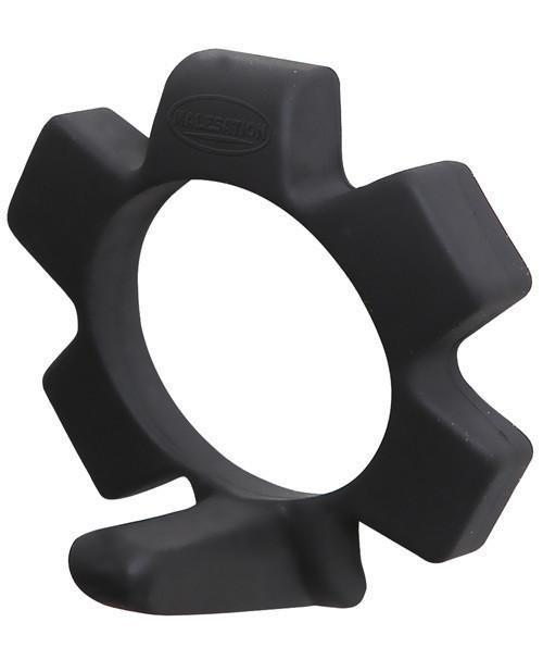 Malesation - Funny Ring Silicone Cock Ring (Black) Silicone Cock Ring (Non Vibration) - CherryAffairs Singapore