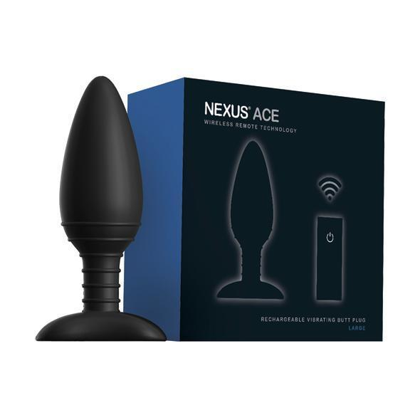 Nexus - Ace Remote Control Wireless Vibrating Butt Plug L (Black)