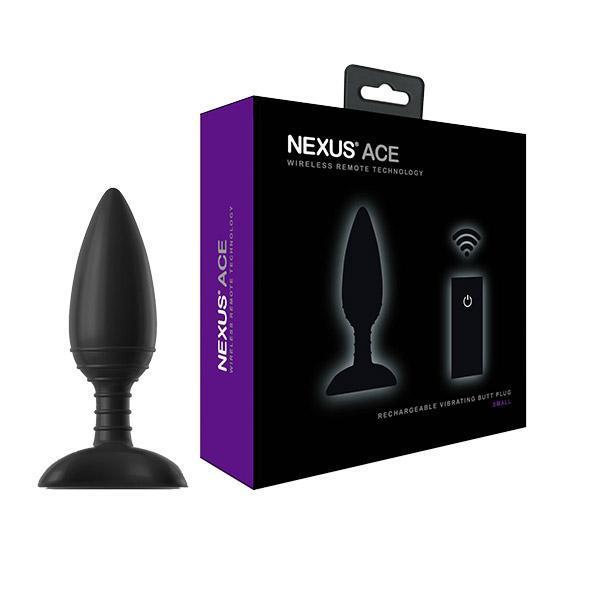 Nexus - Ace Remote Control Wireless Vibrating Butt Plug S (Black)