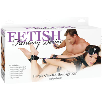 Pipedream - Fetish Fantasy Series Cheetah Bondage Kit (Purple)