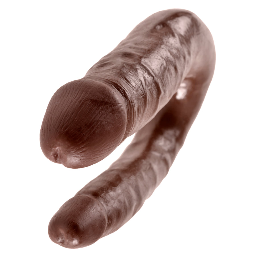Pipedream - King Cock Double Trouble Dildo Small (Brown)