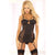 Pink Lipstick - 2 Pieces High Exposure Chemise and Garter S/M (Black)